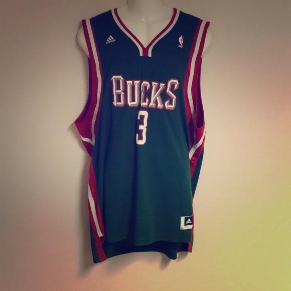 #3 Brandon jennings Milwaukee bucks jersey